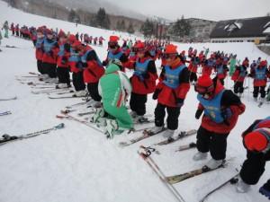 スキー履き方