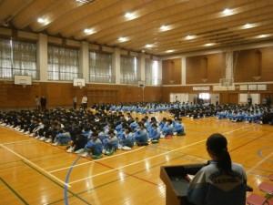 学校評議員会・全校集会・声かけ応援団会議