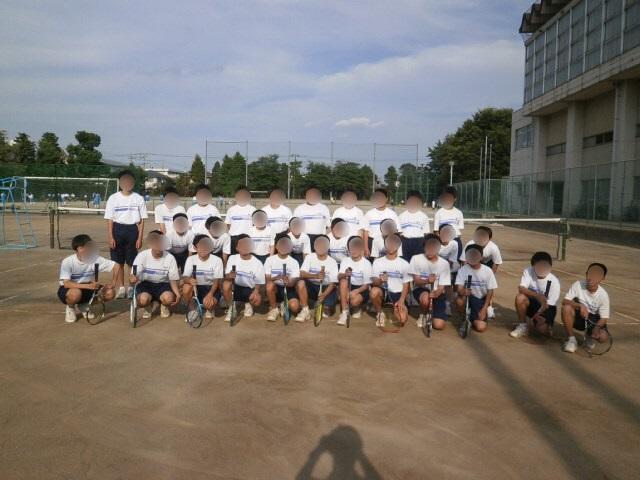 男子ソフトテニス部活動風景