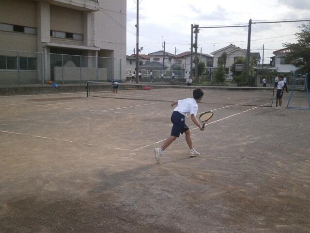 男子ソフトテニス部練習風景